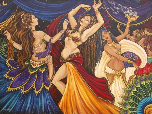 Belly-Dancing-Lessons-Painting